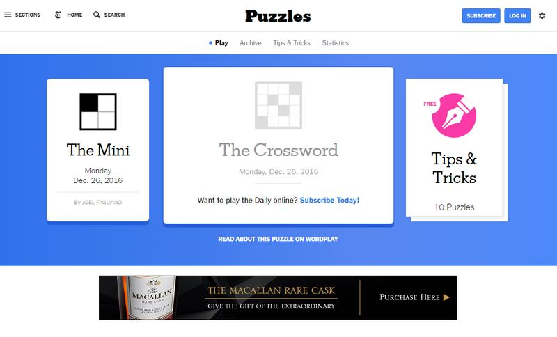 New York Times Crossword Puzzles
