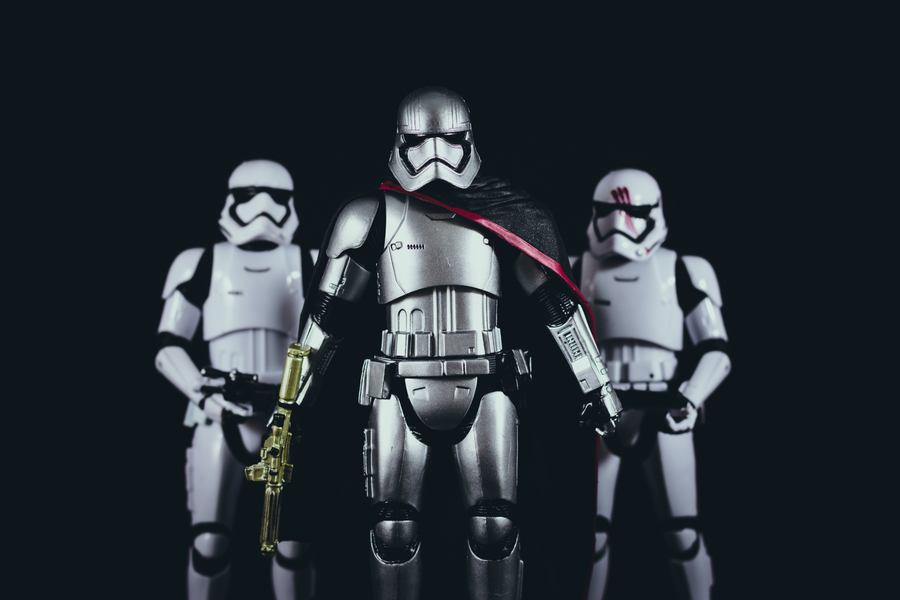 Star Wars Storm Troopers & Captain Phasma