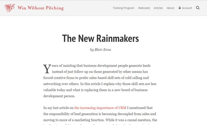 The New Rainmakers